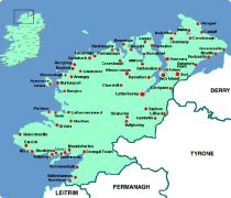 Map Of Donegal Donegal Map Of Donegal