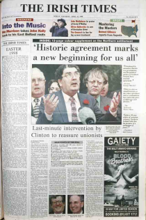 The belfast agreement 1998 irish times 11th april belfast agreement or good friday platinumwayz